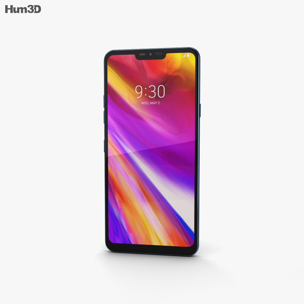 LG G7 ThinQ Moroccan Blue 3d model