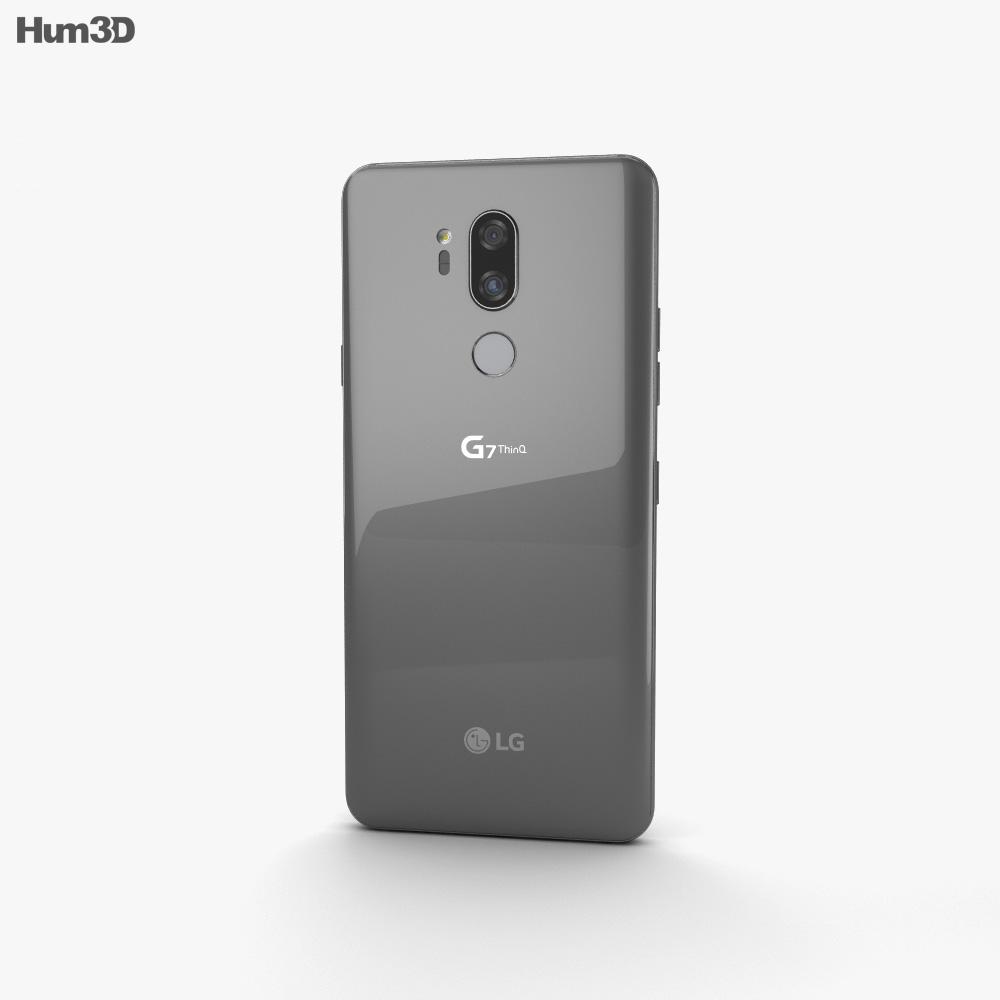 LG G7 ThinQ Platinum Gray 3d model