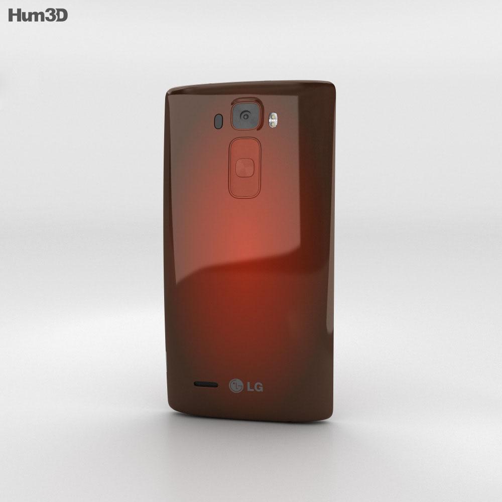 LG G Flex 2 Flamenco Red 3d model
