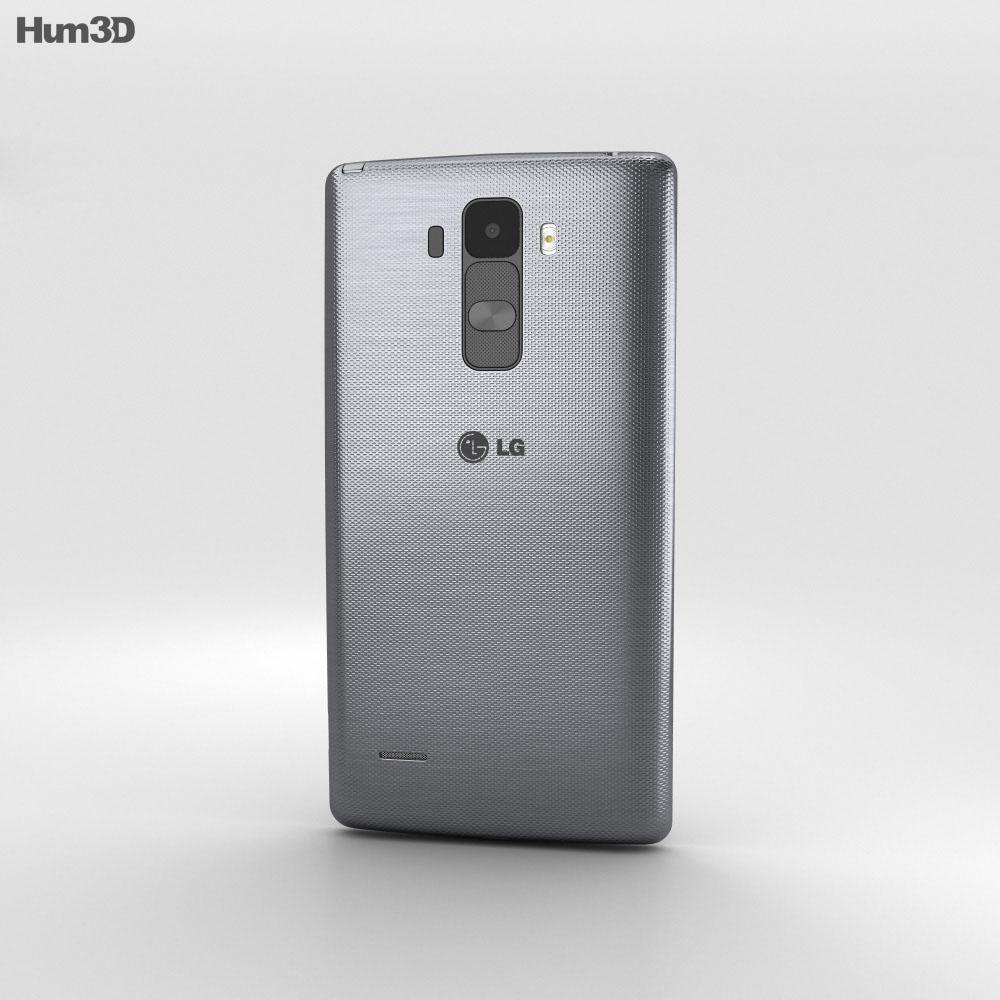 LG G Stylo Silver 3d model