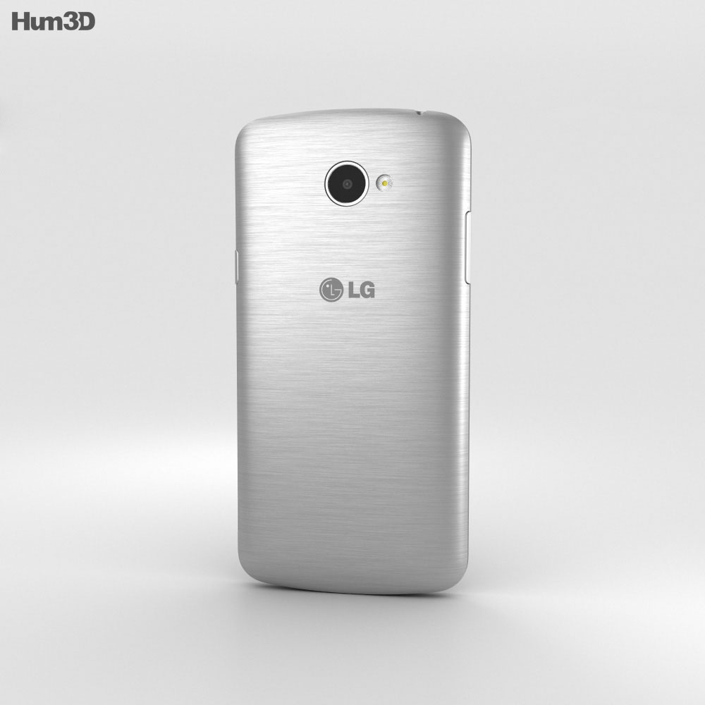 LG K5 Silver 3d model