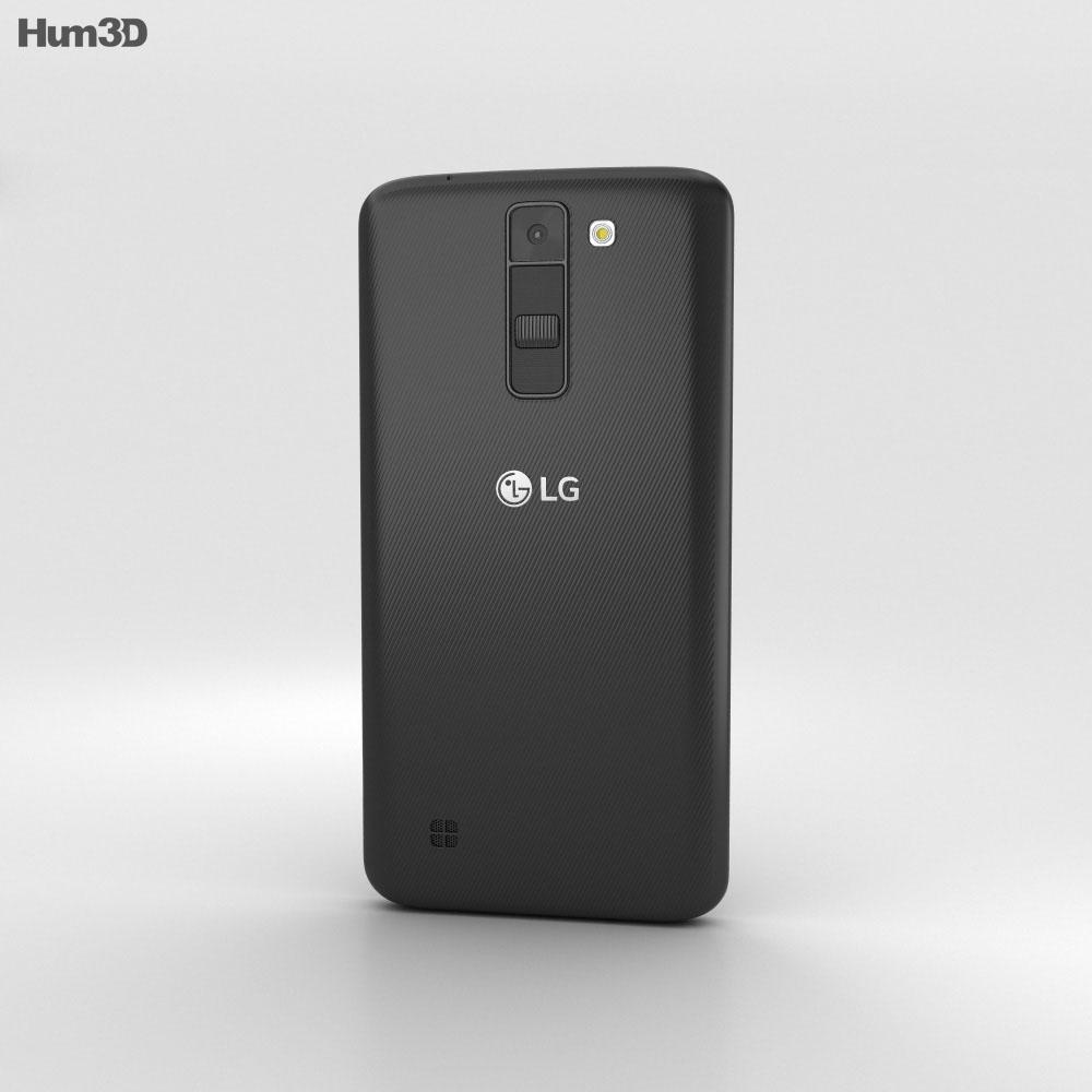 LG K7 Black 3d model