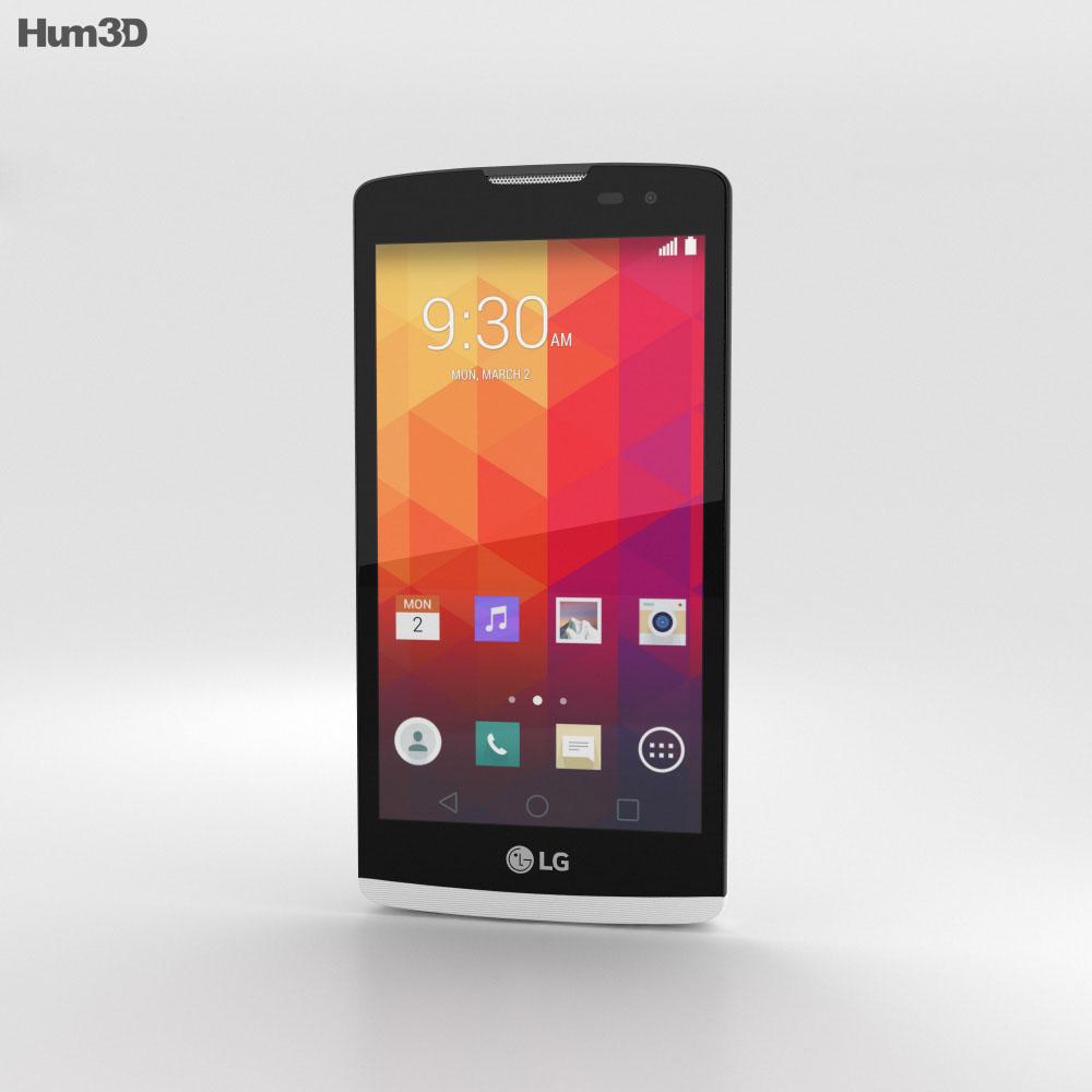 LG Leon White 3d model