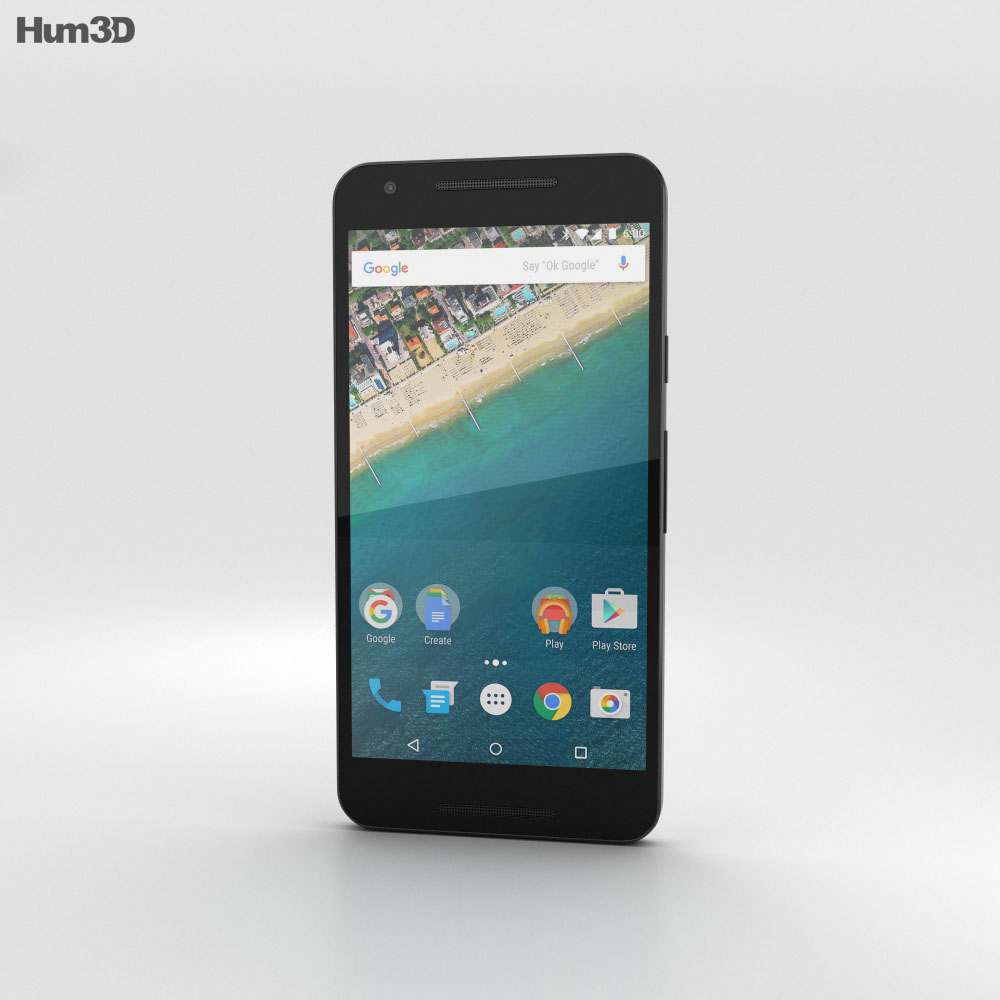 LG Nexus 5X Ice 3d model