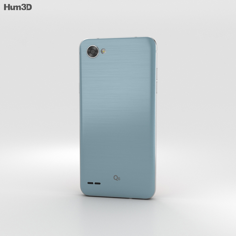 LG Q6 Ice Platinum 3d model
