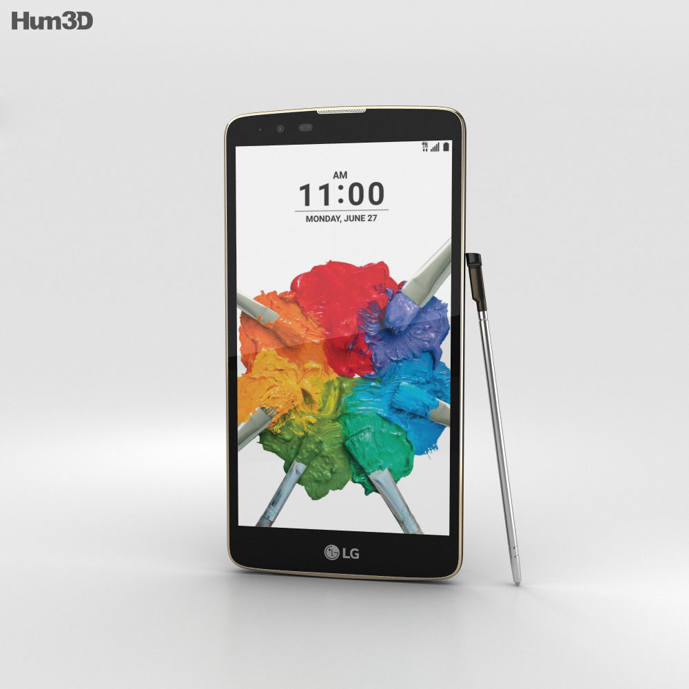LG Stylo 2 Plus Brown 3d model