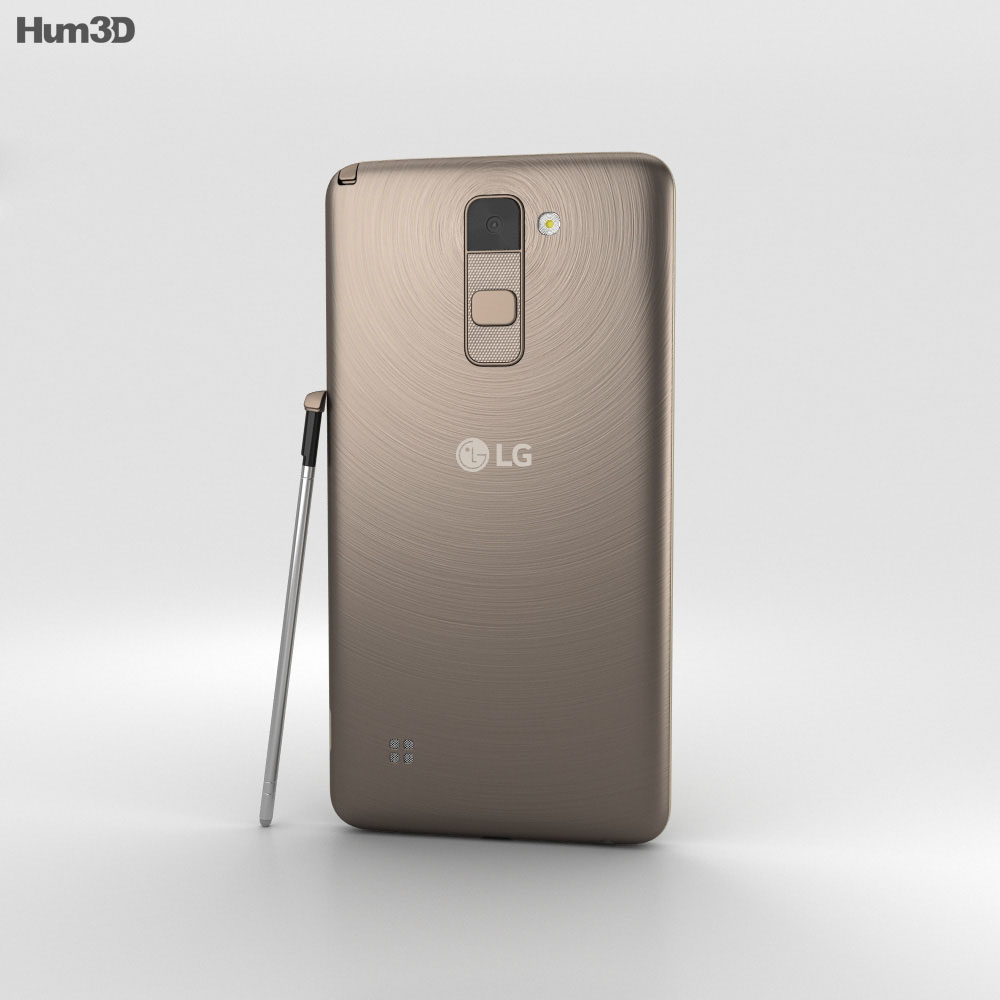 LG Stylus 2 Brown 3d model