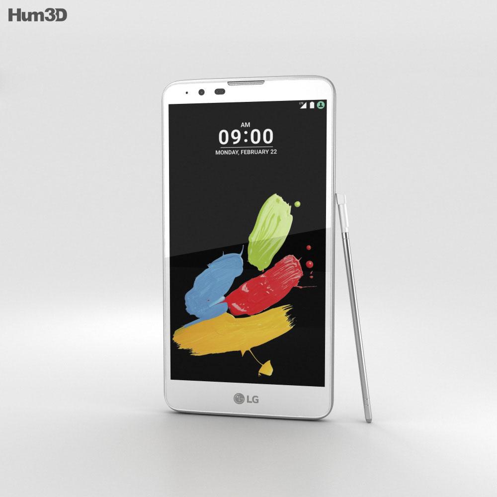 LG Stylus 2 White 3d model