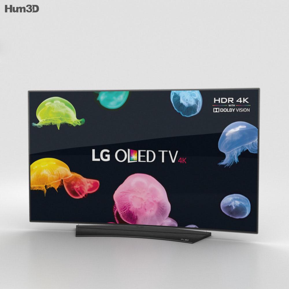 """3D model of LG 55"""" OLED TV  C6 OLED55С6V"""
