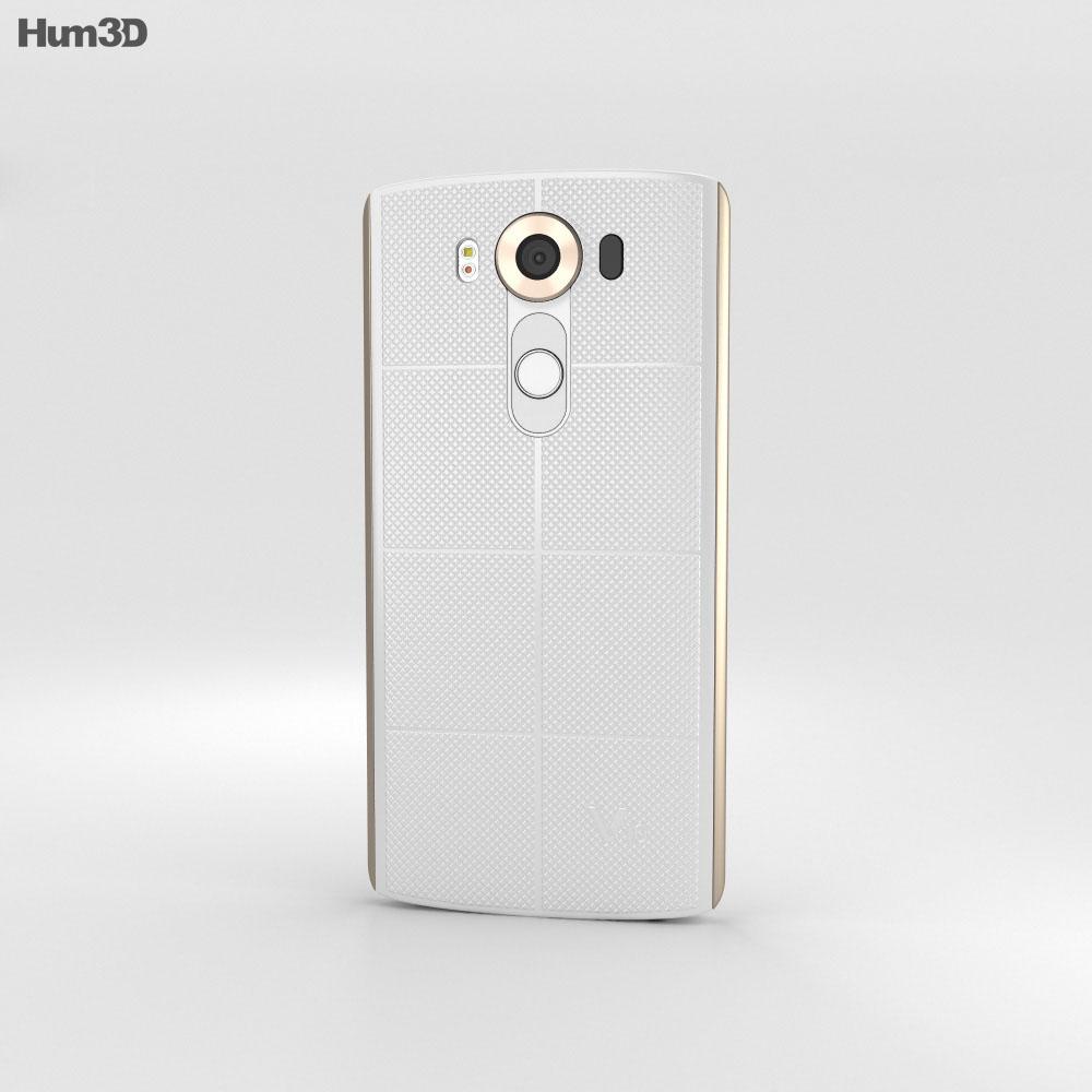 LG V10 Luxe White 3d model