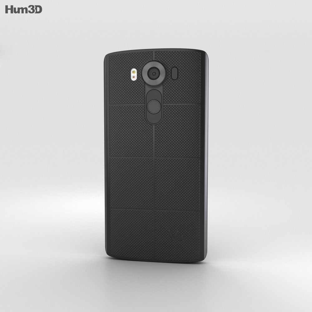 LG V10 Space Black 3d model