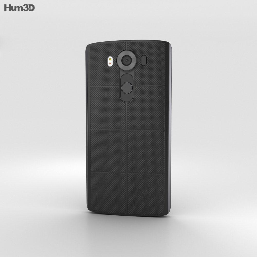 LG V10 Space Black 3d model