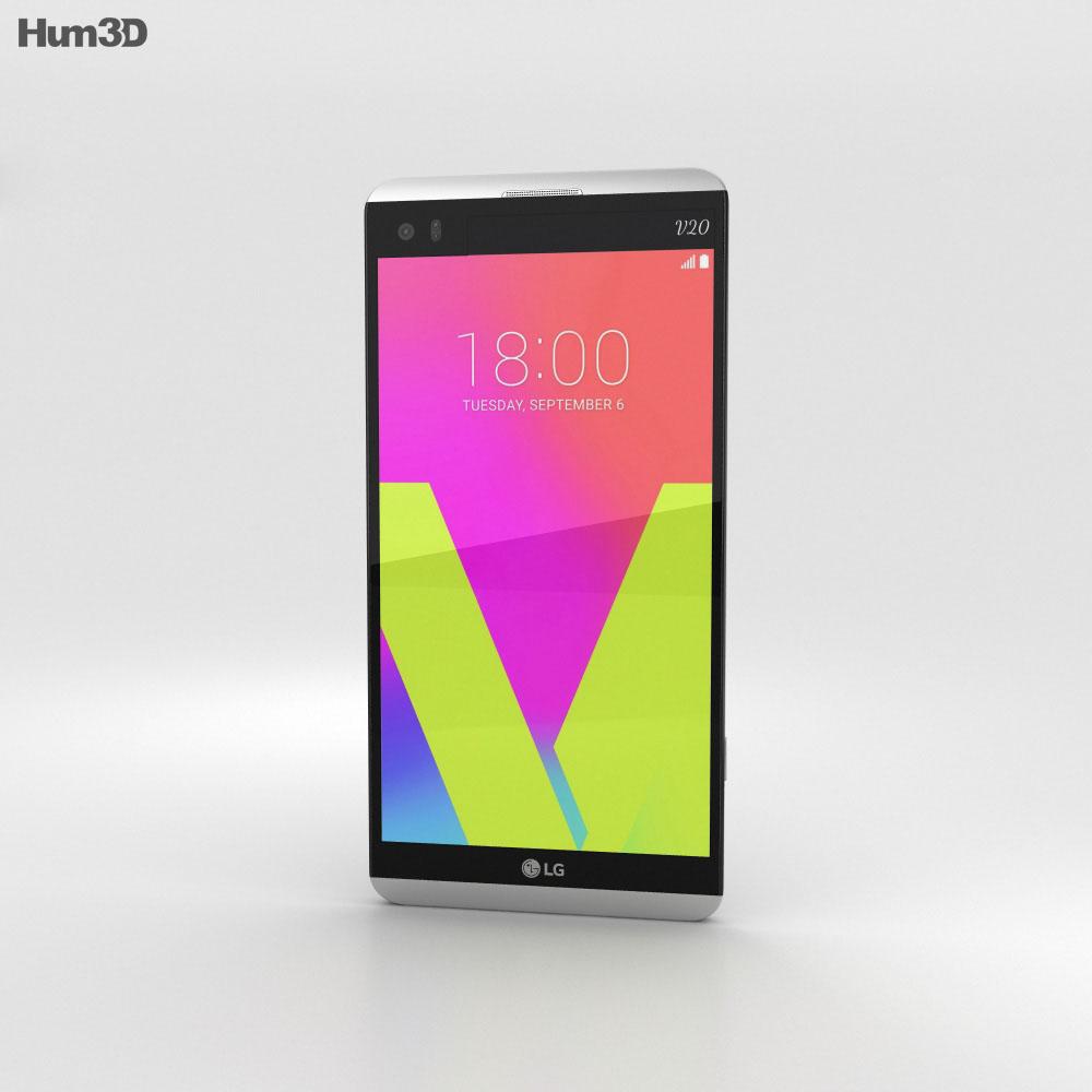 LG V20 Silver 3d model