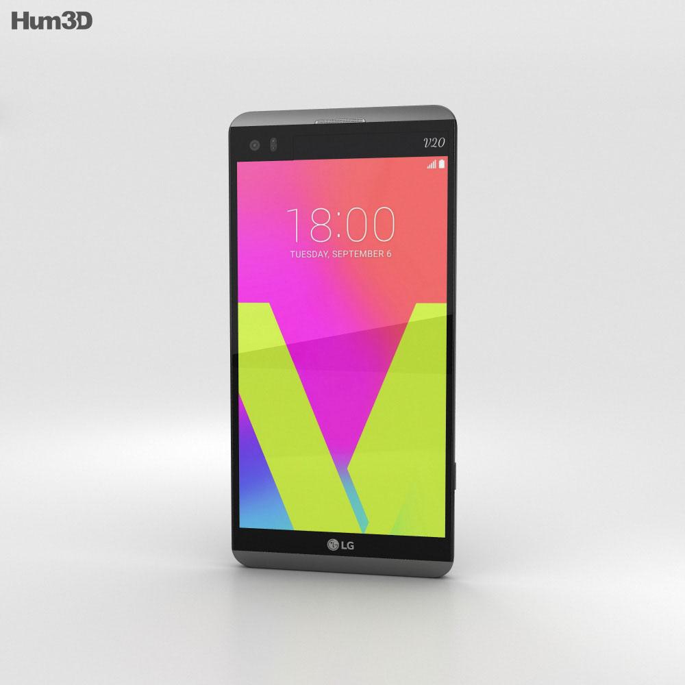 LG V20 Titan 3d model
