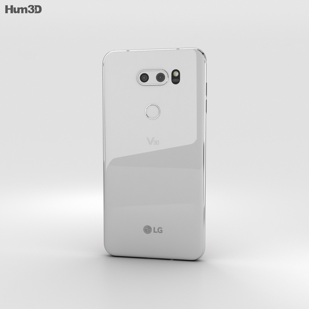 LG V30 Cloud Silver 3d model