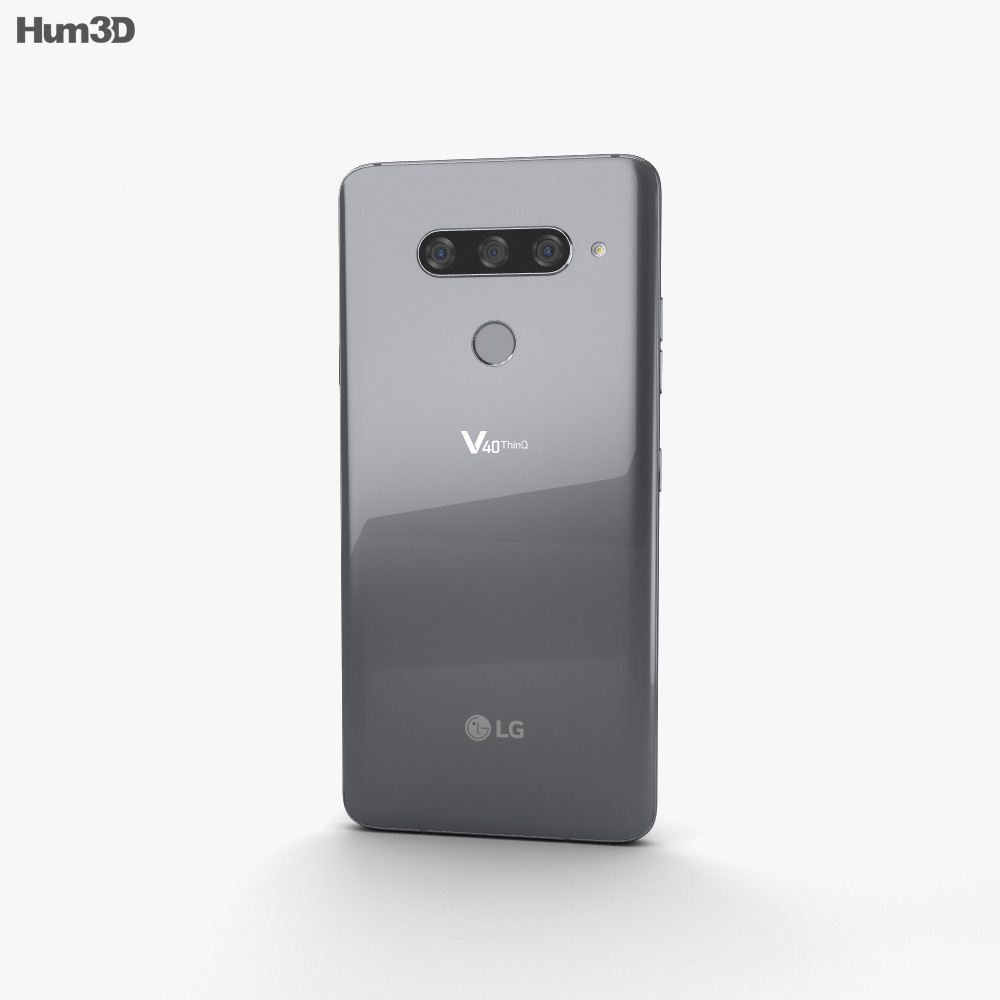 LG V40 ThinQ Platinum Gray 3d model