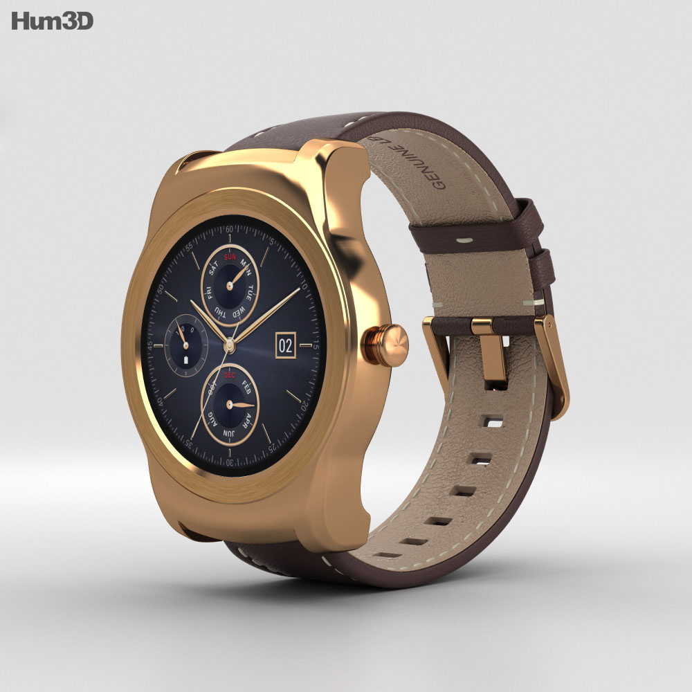 LG Watch Urbane Gold 3d model