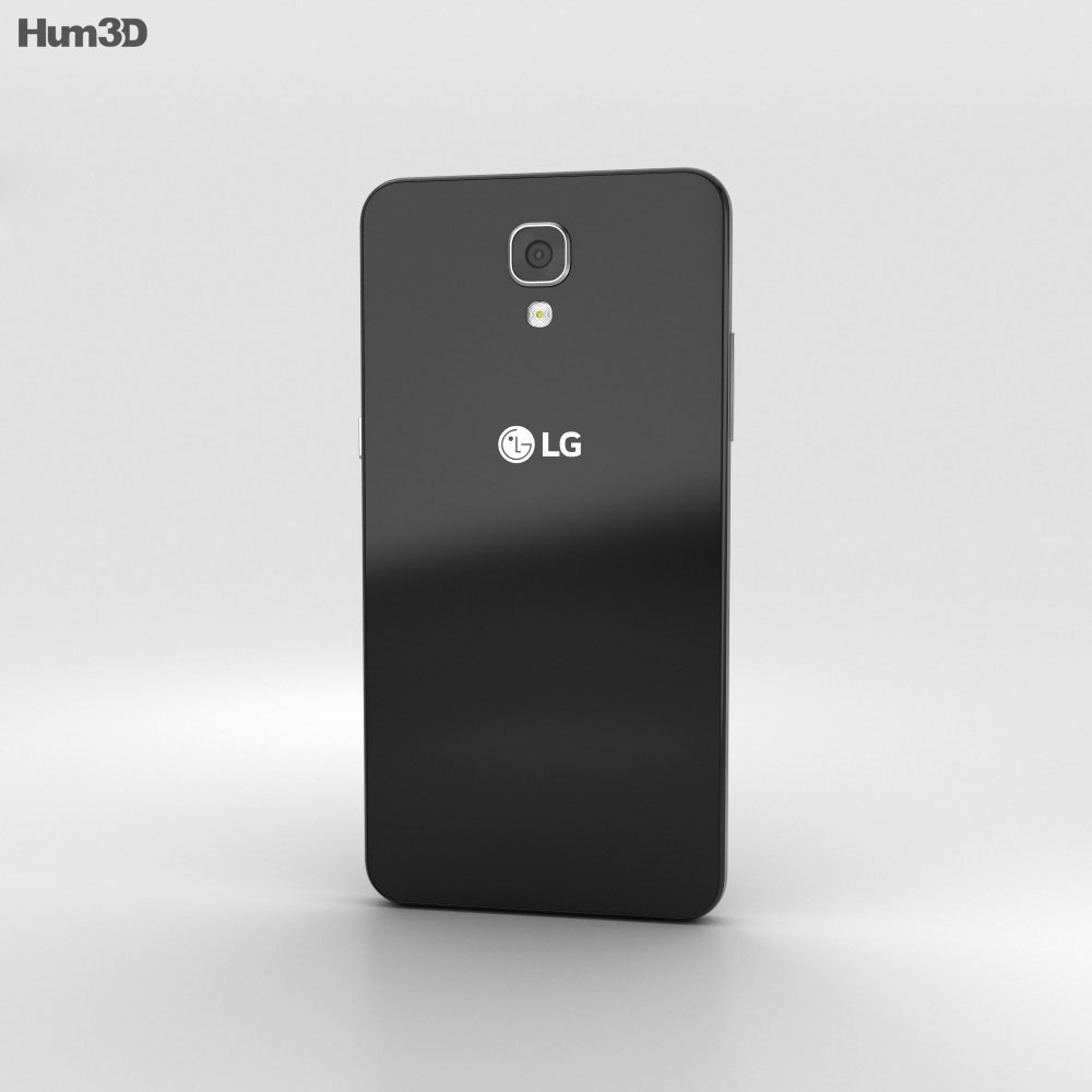 LG X Screen Black 3d model