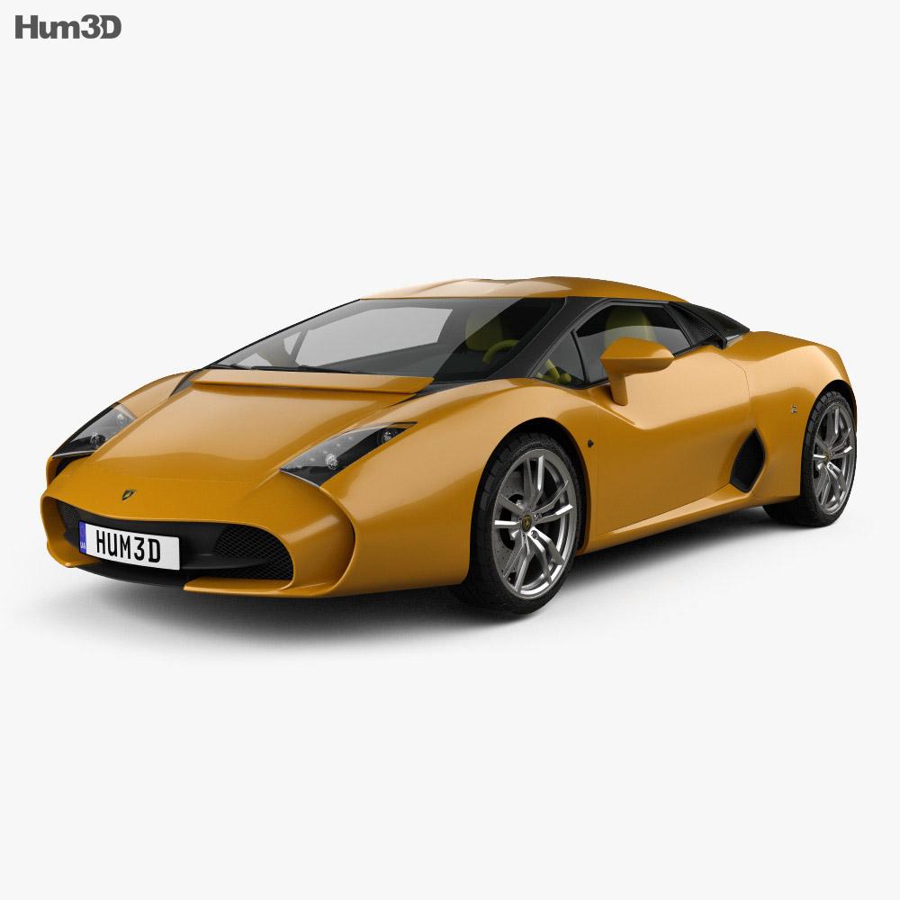 Lamborghini 5-95 Zagato 2014 3d model