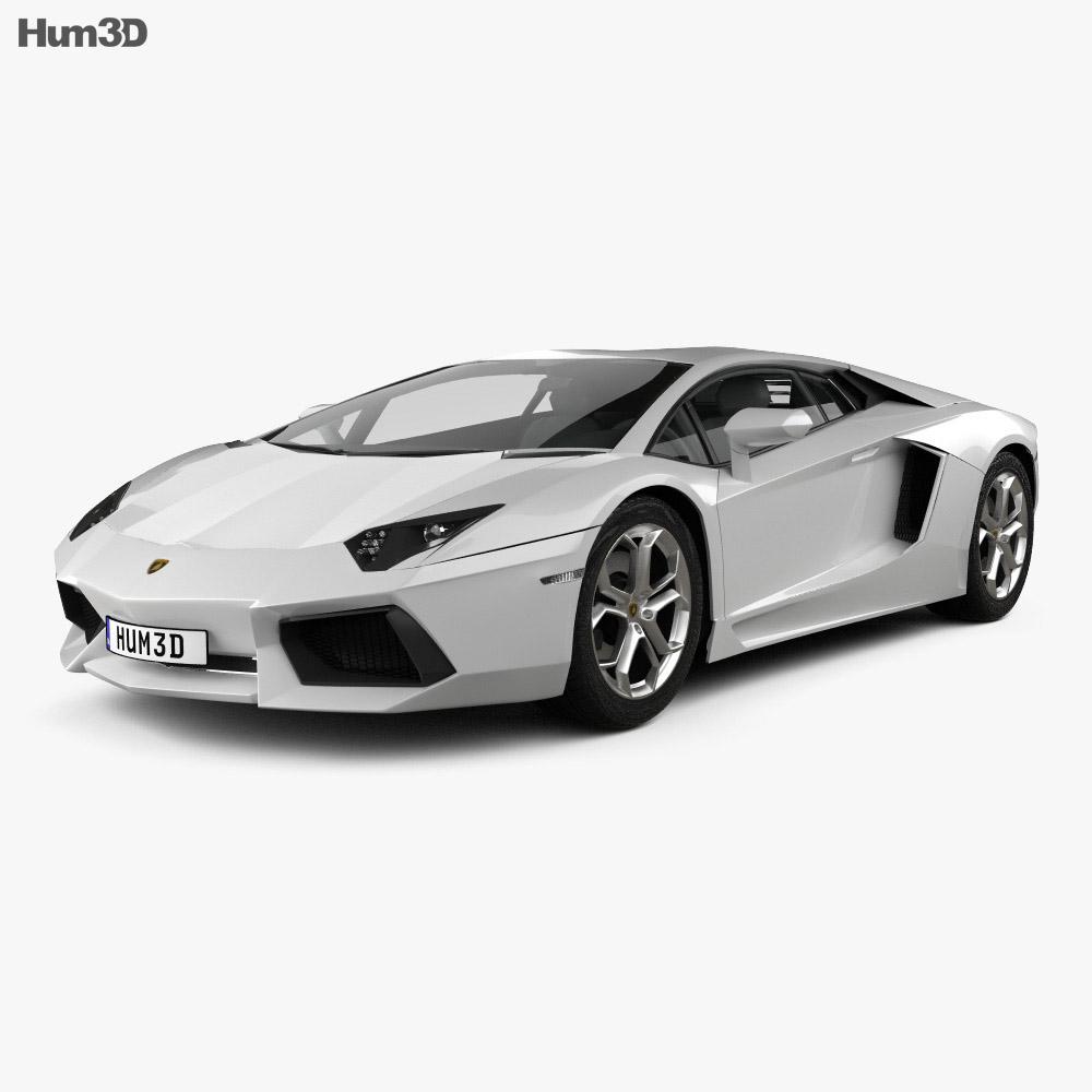 Lamborghini Aventador 2012 3d model