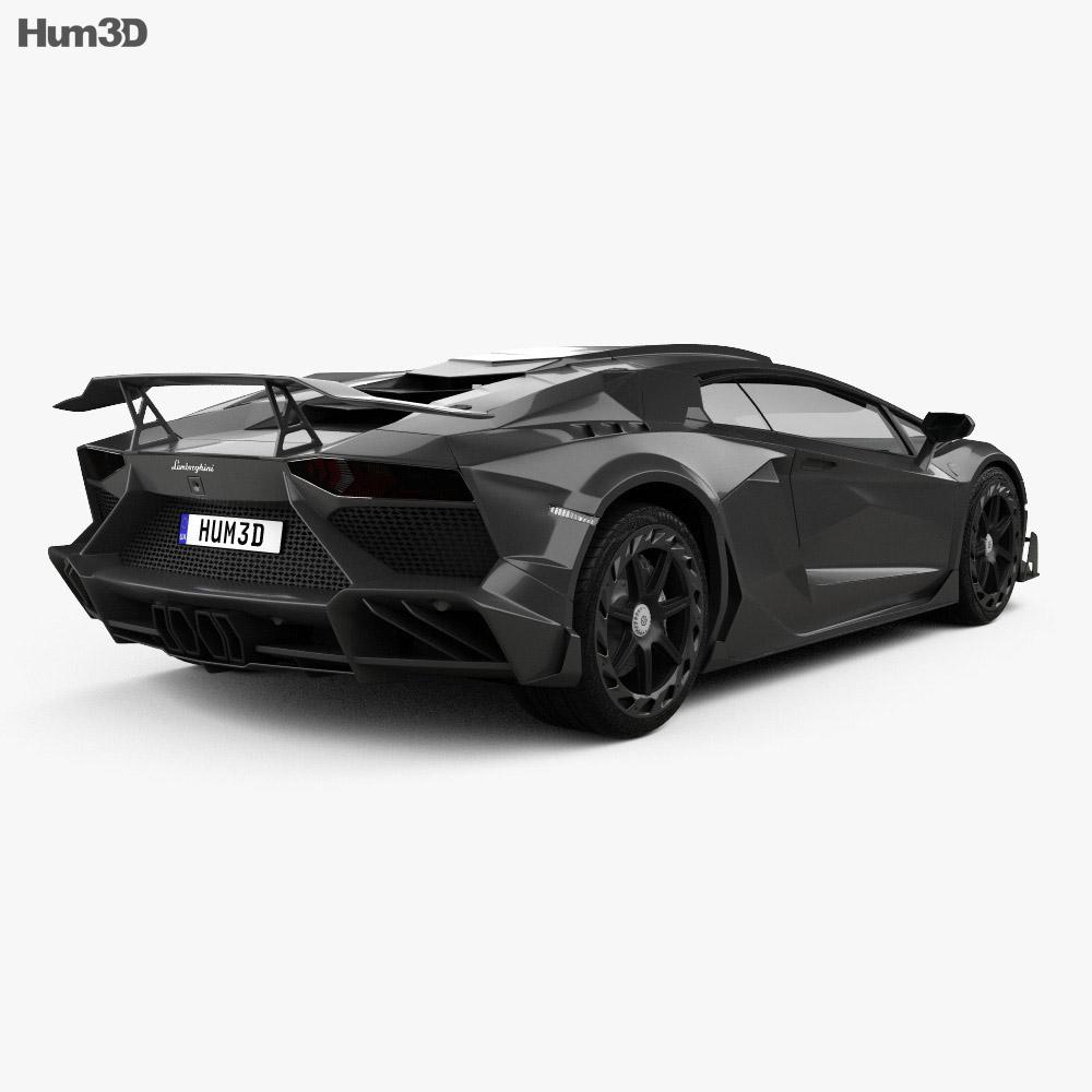 Lamborghini Aventador LP 750-4 Mansory Superveloce JS1 Edition 2016 3d model