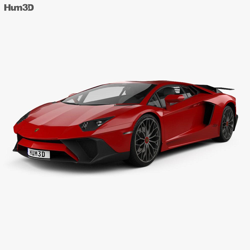 Lamborghini Aventador LP 750-4 Superveloce 2015 3D Model