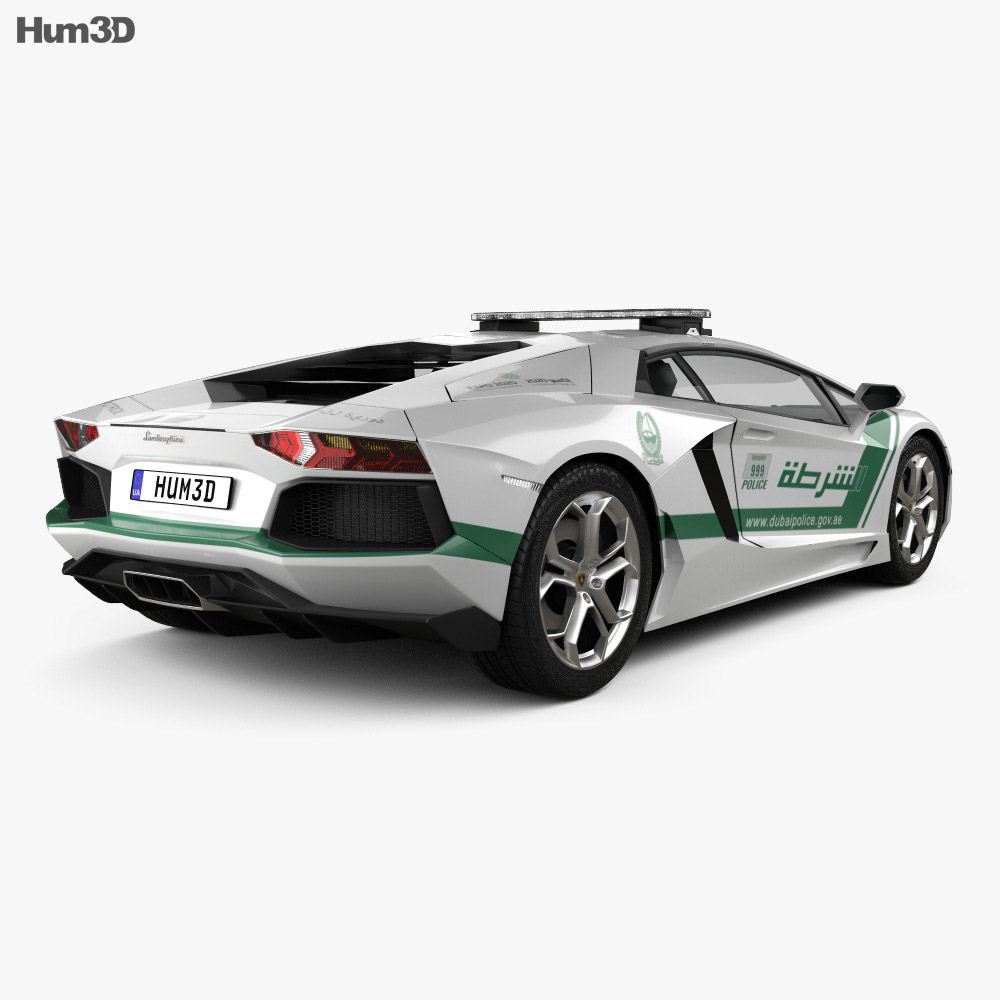 Lamborghini Aventador Police Dubai 2013 3d model