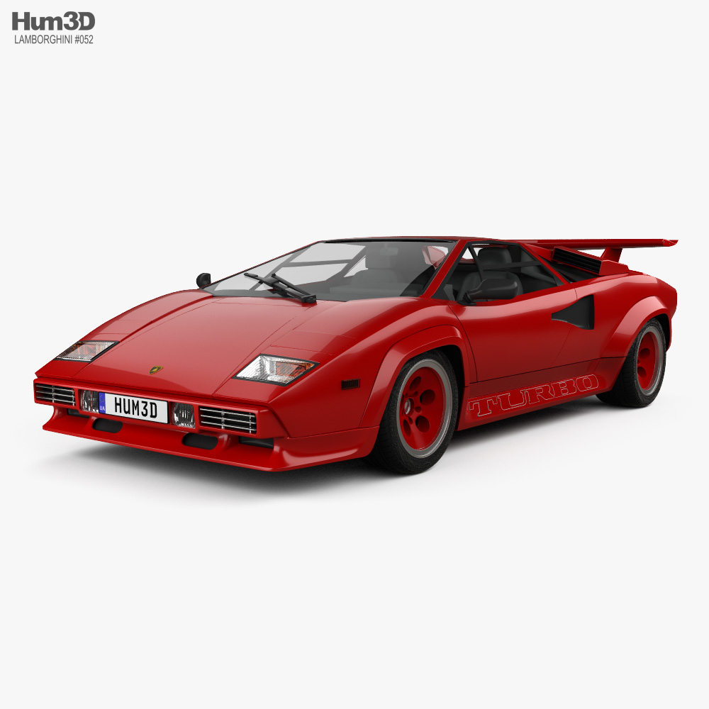 Lamborghini Countach Turbo 1985 3d model