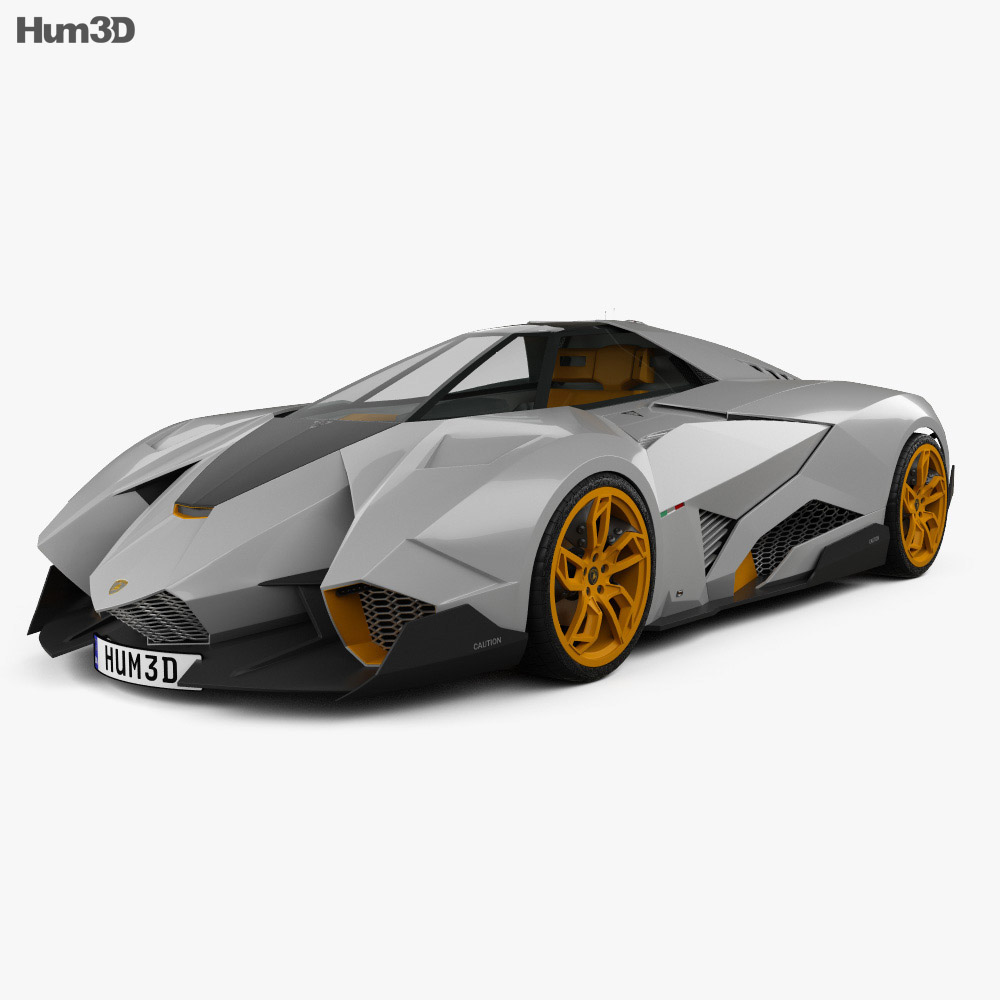 Lamborghini Egoista 2013 3d Model Vehicles On Hum3d