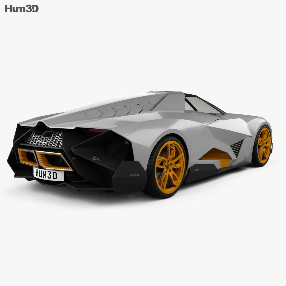 Lamborghini Egoista 2013 3d Model Vehicles On Hum3d