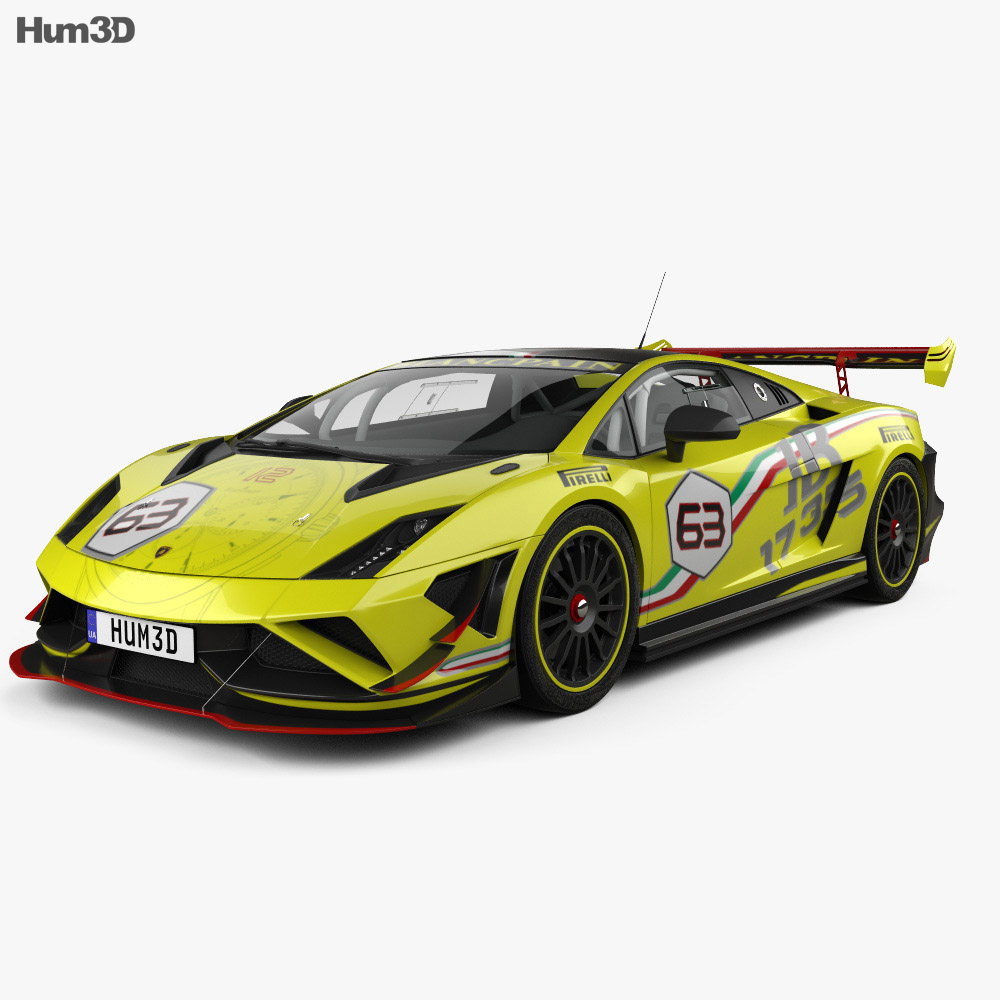 Lamborghini Gallardo LP 570-4 Super Trofeo 2013 3d model
