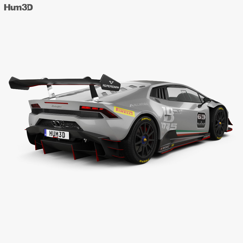 Lamborghini Huracan (LP 620-2) Super Trofeo 2014 3d model