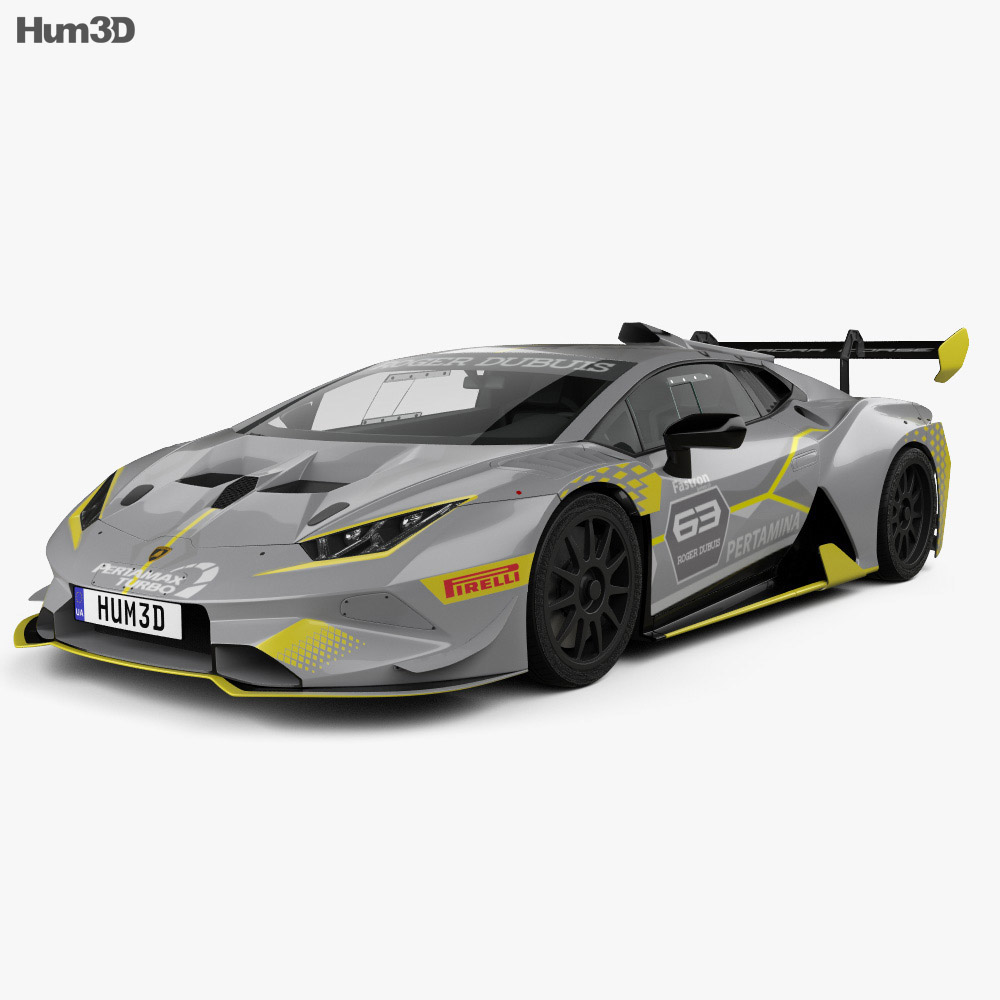Lamborghini Huracan Super Trofeo Evo Race 2018 3d model