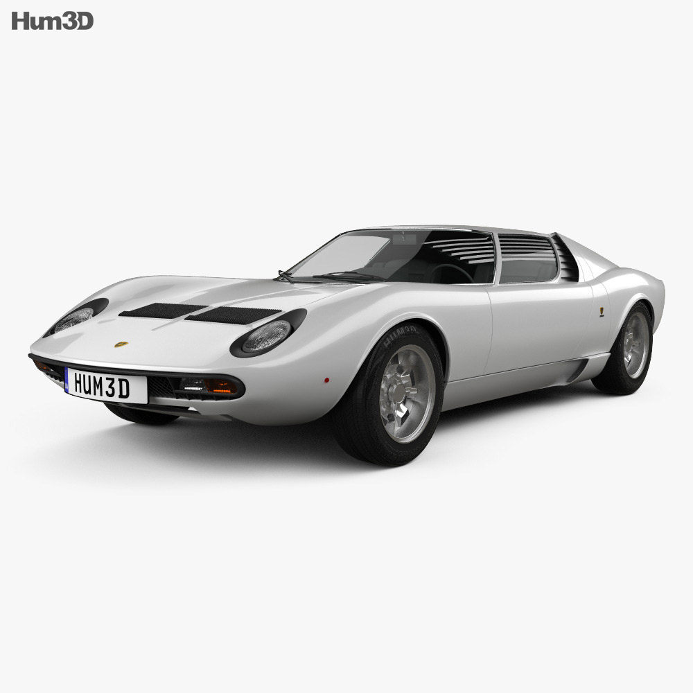 Lamborghini Miura P400sv 1971 3d Model Vehicles On Hum3d