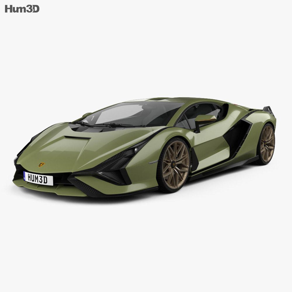 2020 Lamborghini: Lamborghini Sian 2020 3D Model
