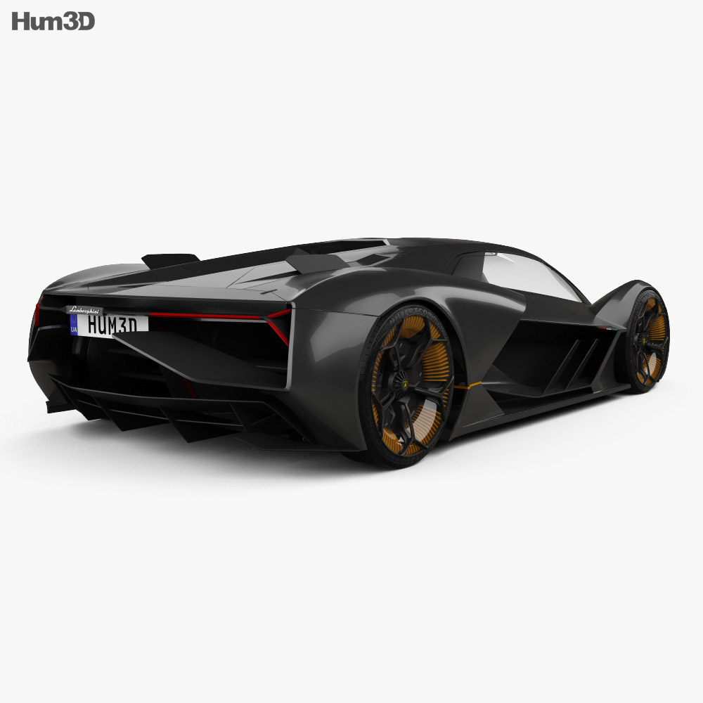 lamborghini terzo millennio 2017 3d model hum3d. Black Bedroom Furniture Sets. Home Design Ideas