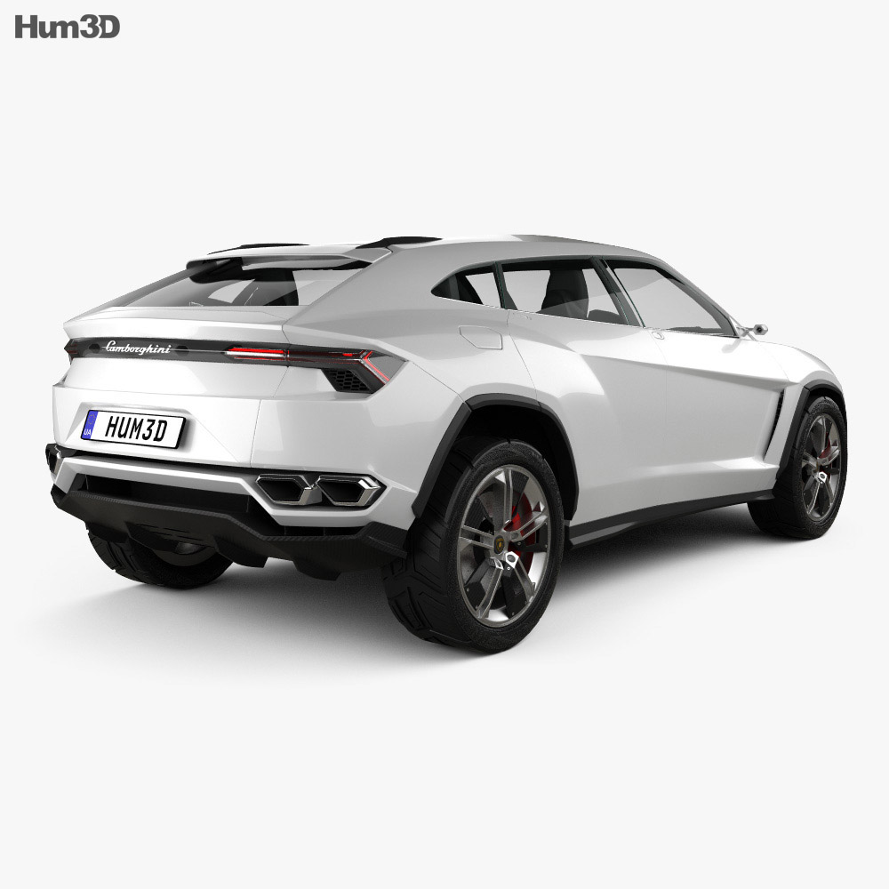 Lamborghini Urus 2012 3d model