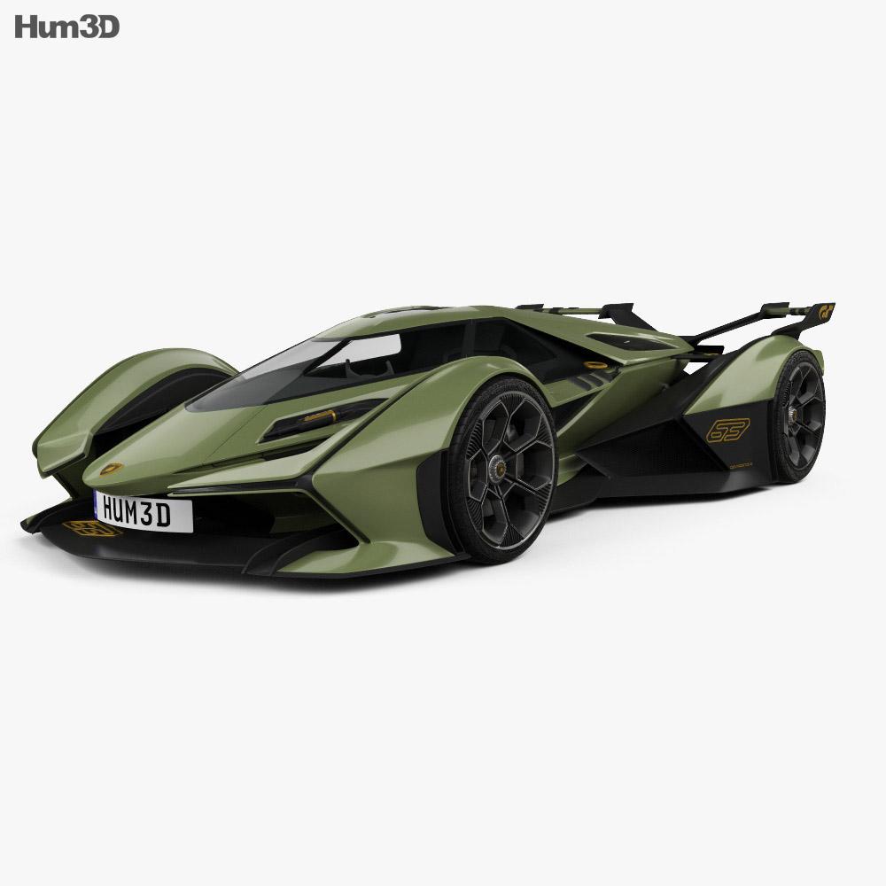 2020 Lamborghini: Lamborghini V12 Vision Gran Turismo 2020 3D Model