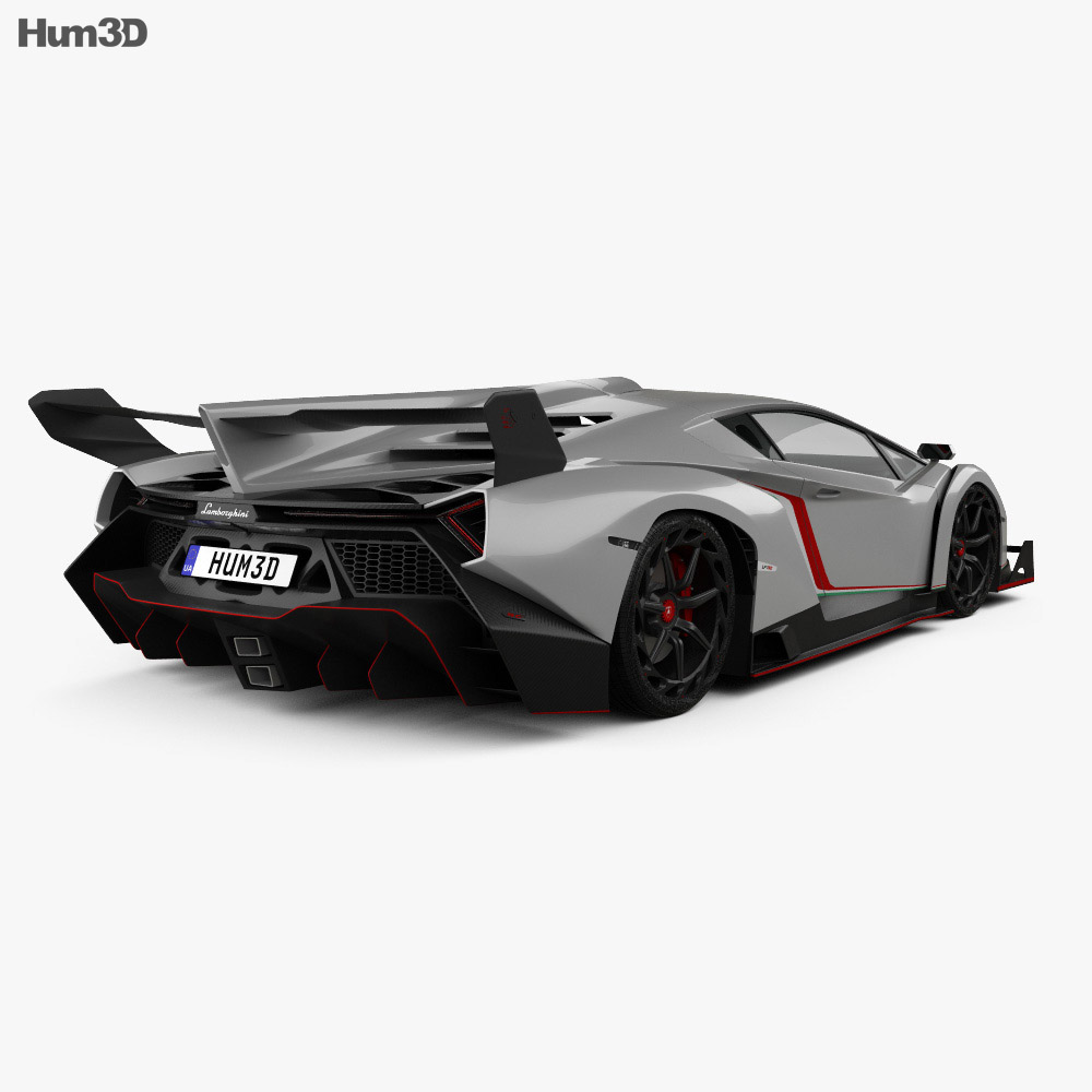 Lamborghini Veneno with HQ interior 2013 3d model