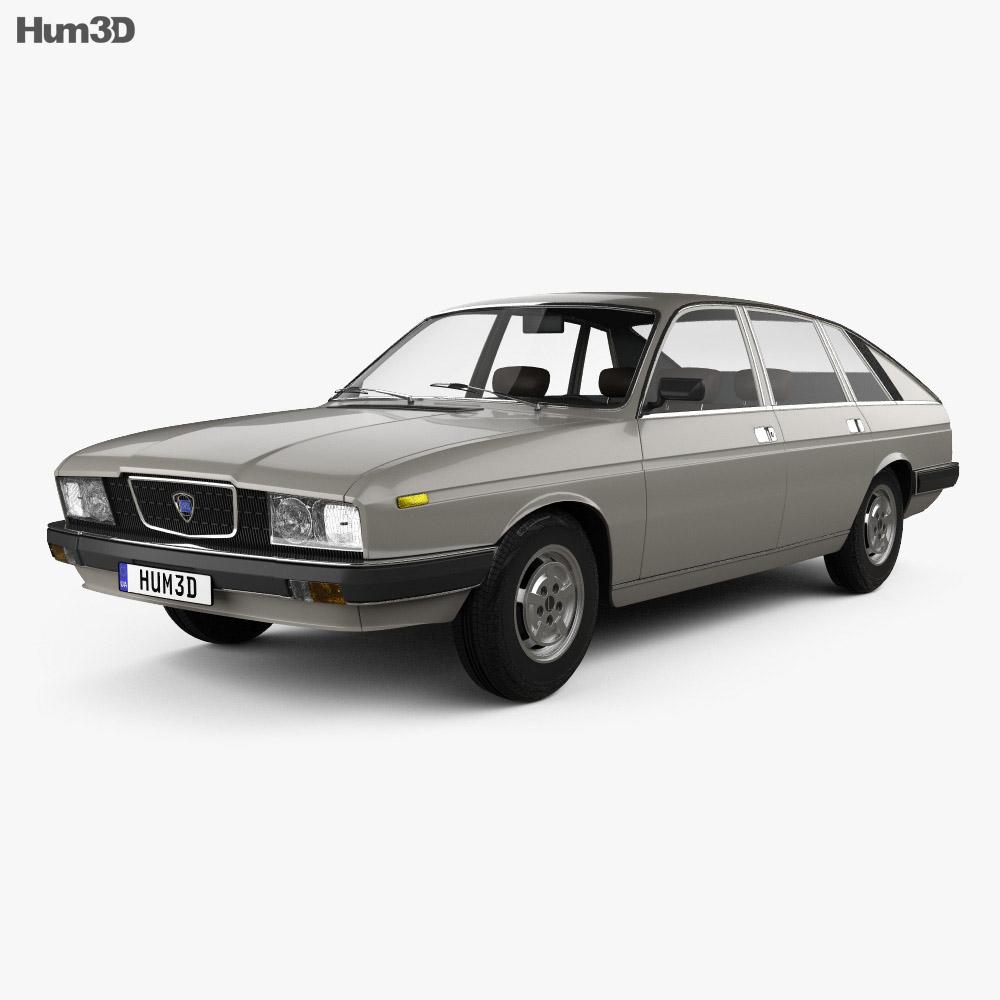 Lancia Gamma Berlina 1976 3d model