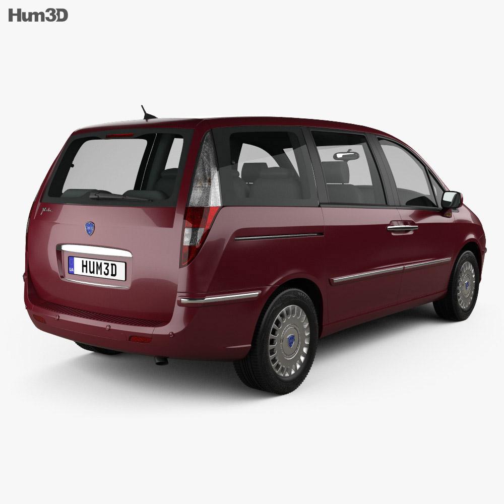 Lancia Phedra 2008 3d model