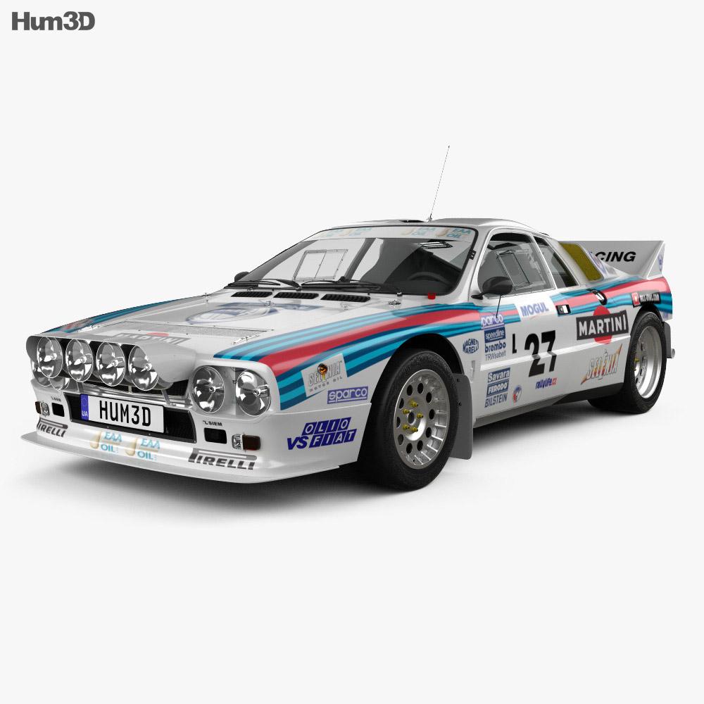Lancia Rally 037 Wrc Group B 1983 3d Model Humster3d