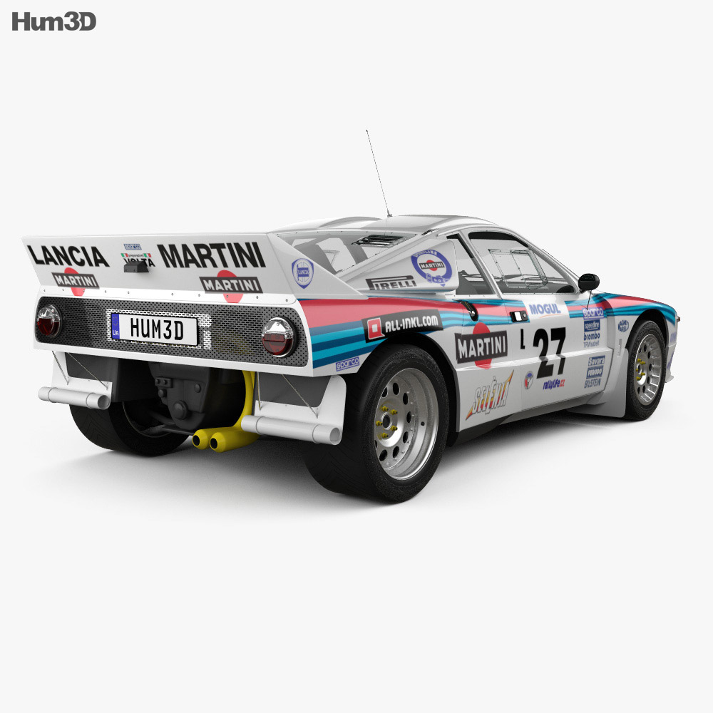 Lancia Rally 037 WRC Group B 1983 3d model