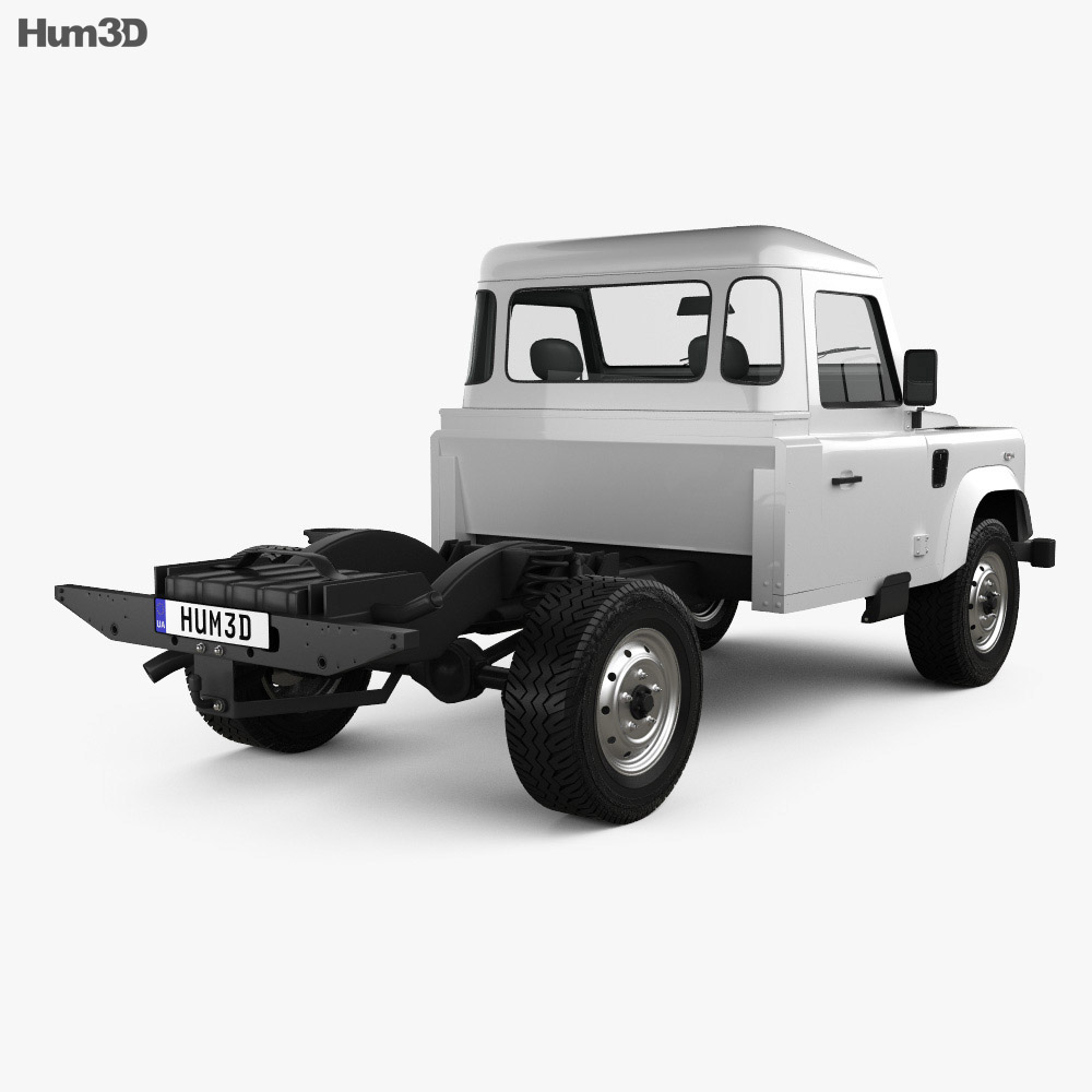 Land Rover Defender 110 Chassis Cab 2011 3d model