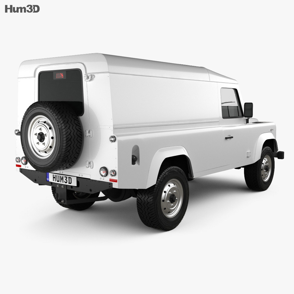 Land Rover Defender 110 hardtop 2011 3d model