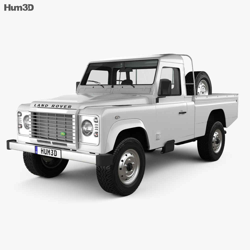 Land Rover Defender 110 High Capacity Pickup 2011 2011 3d model