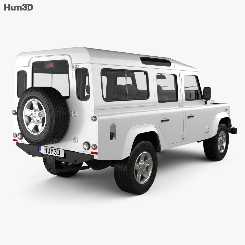 Land Rover Defender 110 Station Wagon 2011 3d model