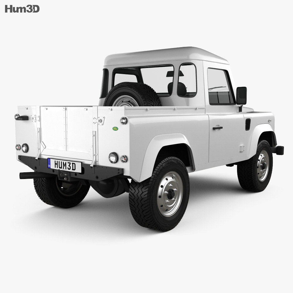 Land Rover Defender 90 pickup 2011 3d model