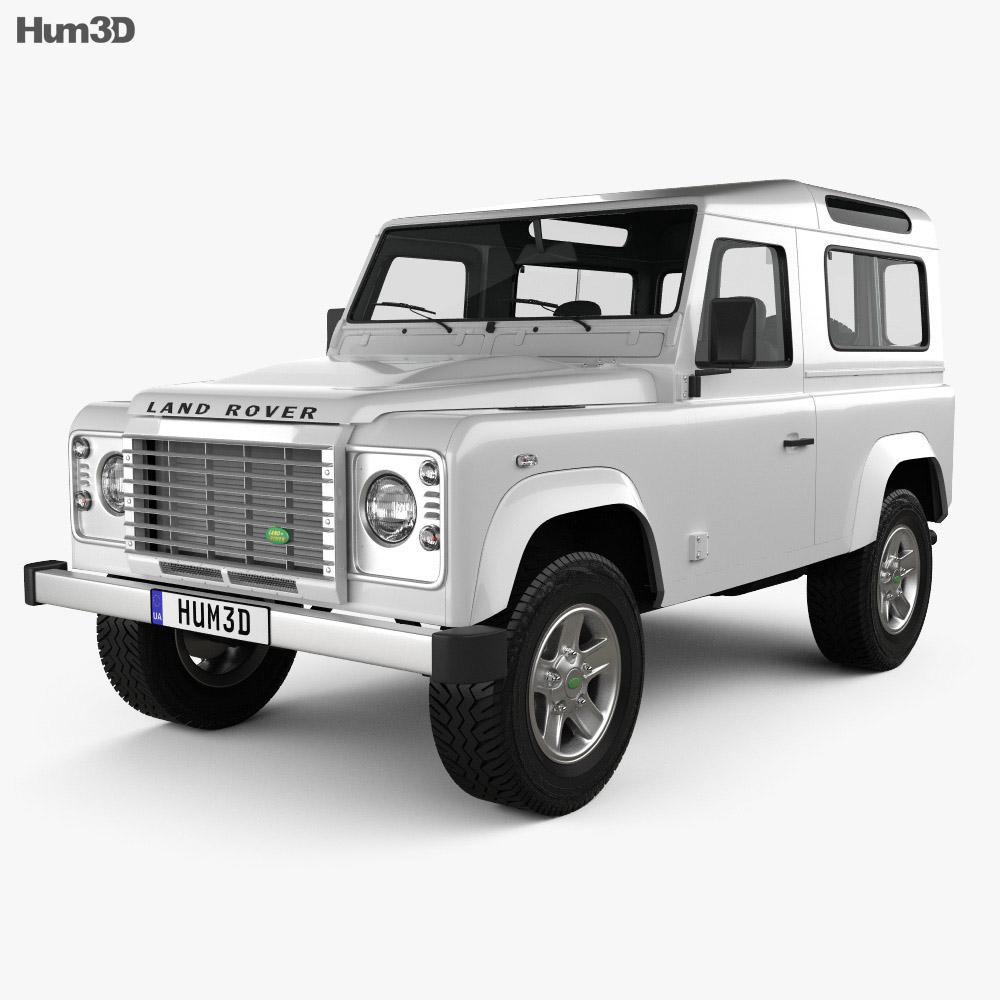Land Rover Defender 90 Station Wagon 2011 3d model