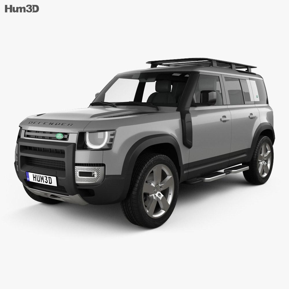 Land Rover Defender 110 Explorer Pack 2020 3d model